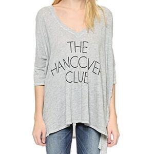 WILDFOX The Hangover Club oversized cotton tee